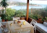 On the terrace at Casa Guidaloca, Sicily