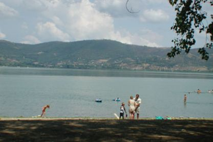 View from the shores of Lake Trasimeno