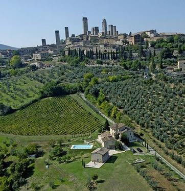Le Mura, holiday rental just outside San Gimignano