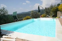 Private swimming pool at Il Nido del Cu Cu