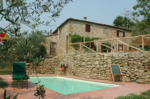 San Eusebio, 2 bedroom house with private pool in Tuscany