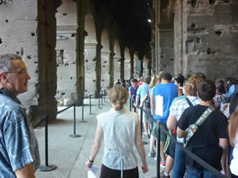 Avoiding the queues at the Colosseum, Rome