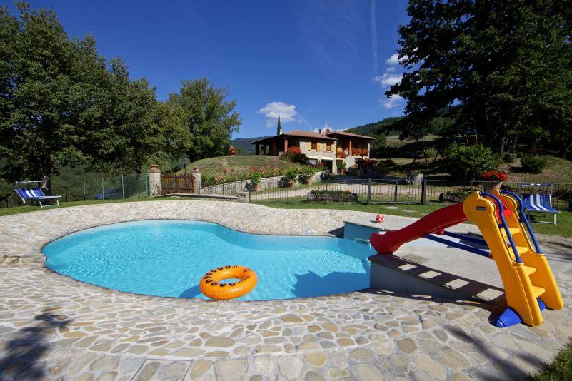 Fenced private pool at La Casa di Peter
