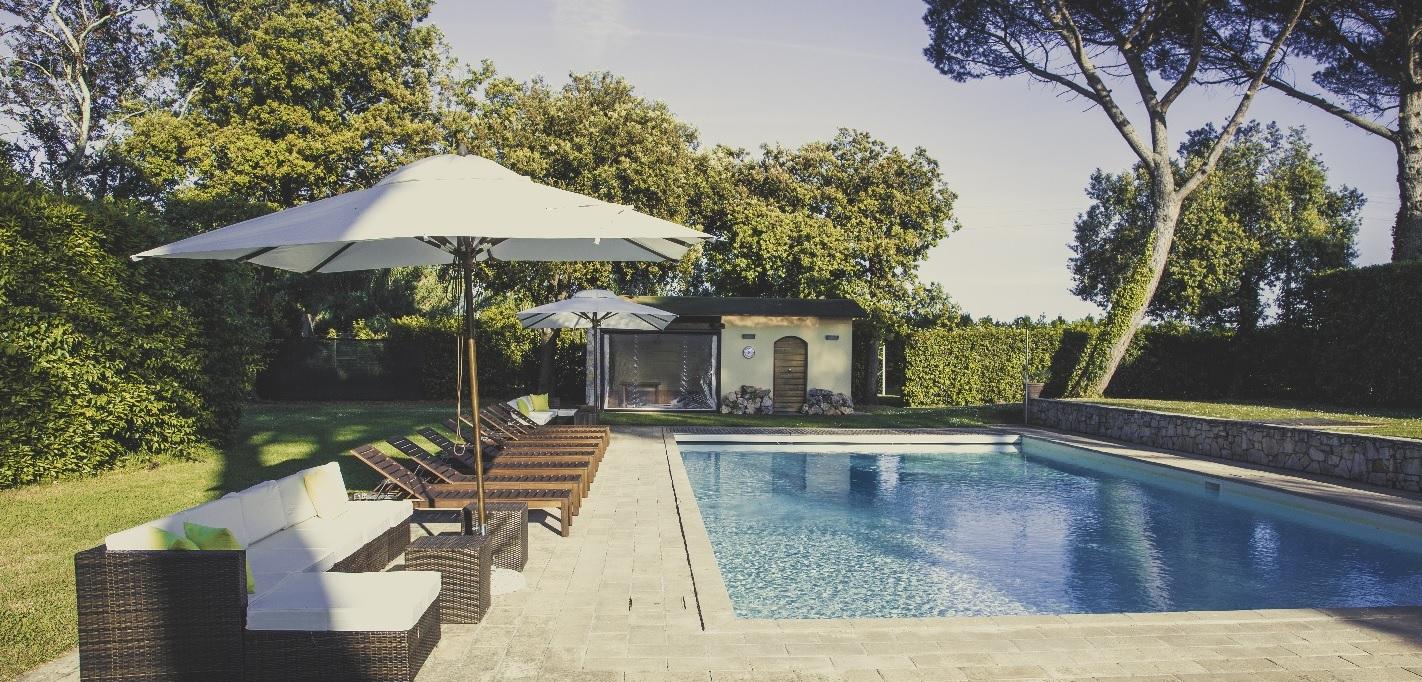 Private pool, Villa Ravano near Pisa