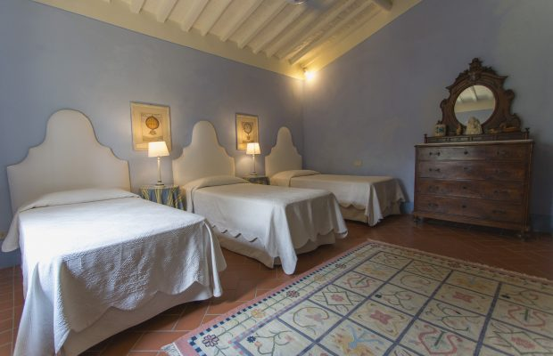 Villa La Cittadella: Triple bedroom (also available as I double + 1 single bed)