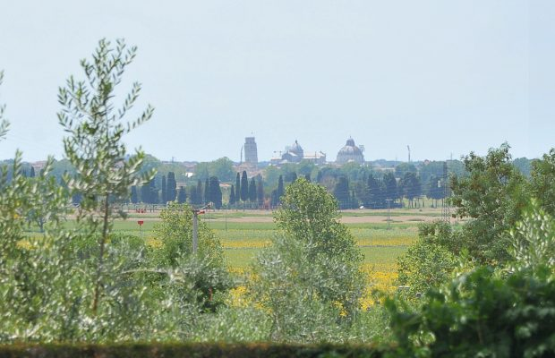 Villa Lungomonte: view of the Leaning Tower of Pisa from the villa