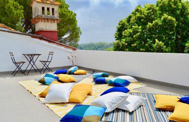 Villa Guardavalle: roof-top sun terrace