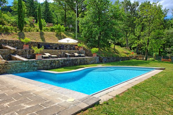 Pool at Villa Margherita. Honeymoon villa near Cortona.